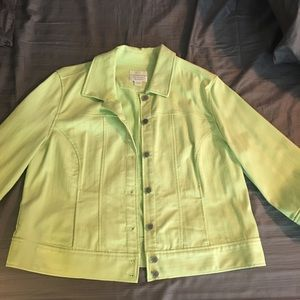 Christopher and Banks light green Jean jacket